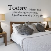 Bruno Mars Lazy Wall Sticker Quote