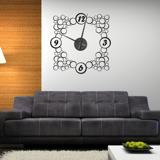 Bubble Wall Clock Sticker