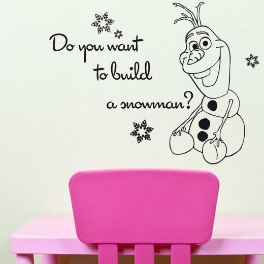 Build A Snowman Wall Sticker Frozen