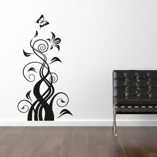 Butterfly Flower Wall Sticker