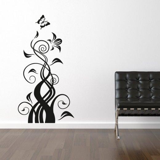 Butterfly Flower Wall Sticker