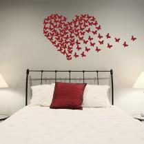 Butterfly Heart Wall Sticker