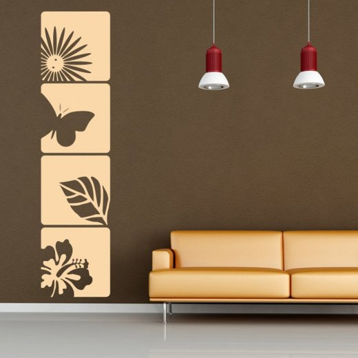 Butterfly Square Wall Sticker