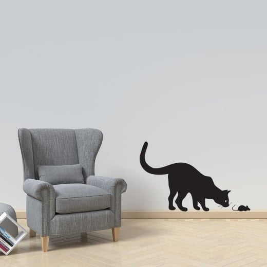 Cat & Mouse Wall Sticker