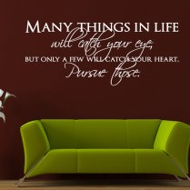 Catch Your Heart Wall Sticker Quote