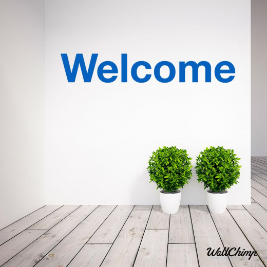 Cathedral City Estates Custom Wall Stickers - Welcome Sign WC051216-1QT