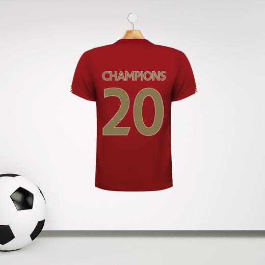 Champions 2020 Football Shirt Wall Sticker