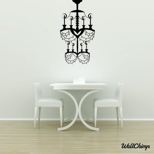 Chandelier 12 Lighting Wall Sticker