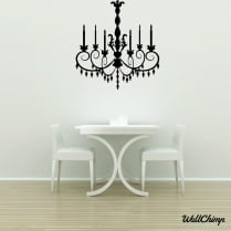 Chandelier 19 Lighting Wall Sticker