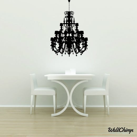 Chandelier 3 Lighting Wall Sticker
