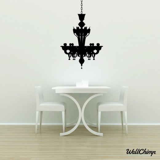 Chandelier 4 Lighting Wall Sticker