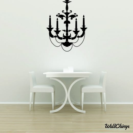 Chandelier 5 Lighting Wall Sticker