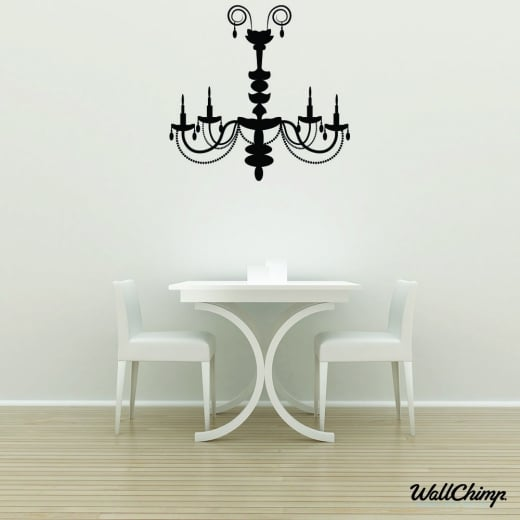 Chandelier 6 Lighting Wall Sticker