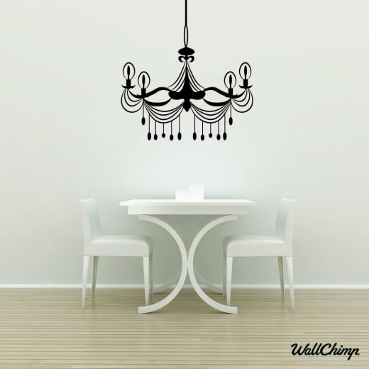 Chandelier 7 Lighting Wall Sticker