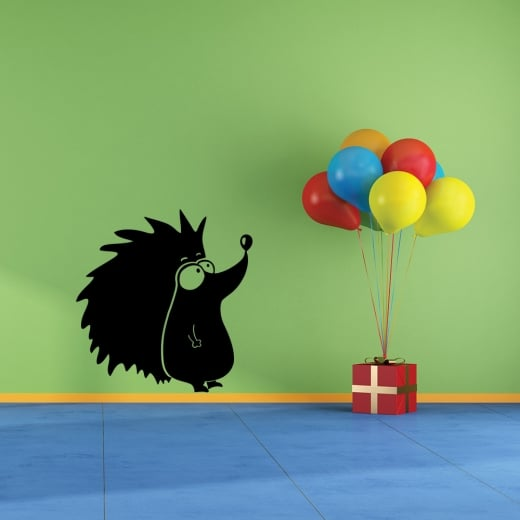 Cheeky Hedgehog Wall Sticker