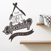 Chef's Specials Wall Sticker Quote