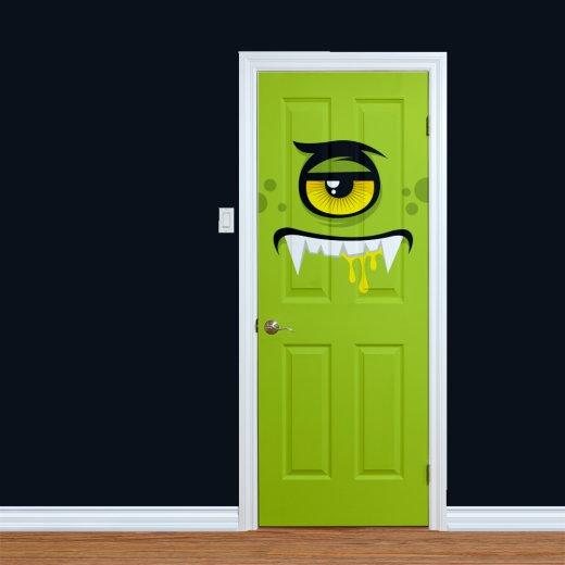 WallChimp Children's Green Monster Printed Door