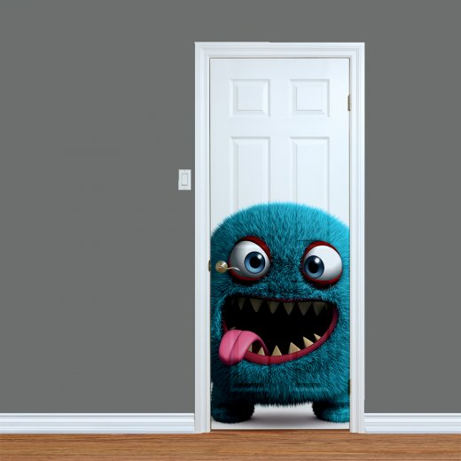 WallChimp Children's Monster Printed Door