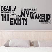 Chris Brown Wake Me Up Wall Sticker Quote
