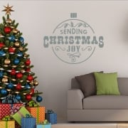 Christmas Joy Ball Ball Wall & Window Sticker