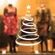 Christmas Tree Five Wall & Window Sticker
