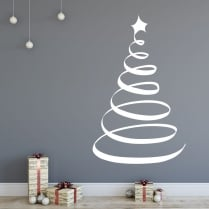 Christmas Tree Five Wall & Window Sticker