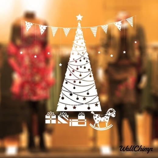 Christmas Tree Four Wall & Window Sticker
