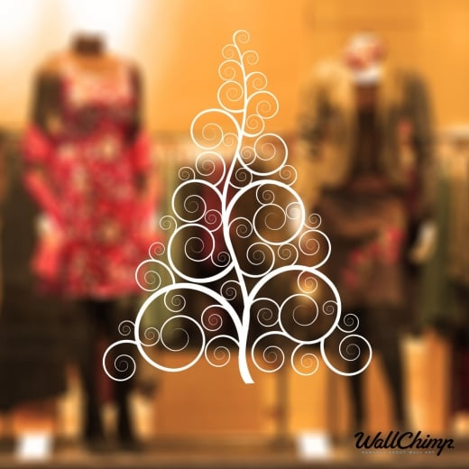 Christmas Tree Six Wall & Window Sticker