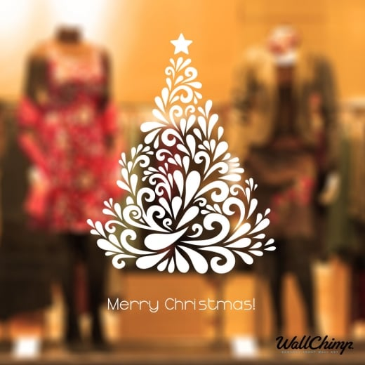 Christmas Tree Three Wall & Window Sticker