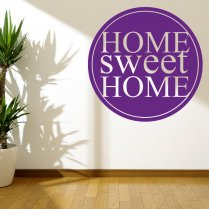 Circle Home Wall Sticker Quote