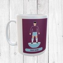 Claret & Blue Football Mug