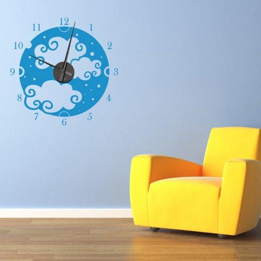 Clouds Clock Wall Sticker