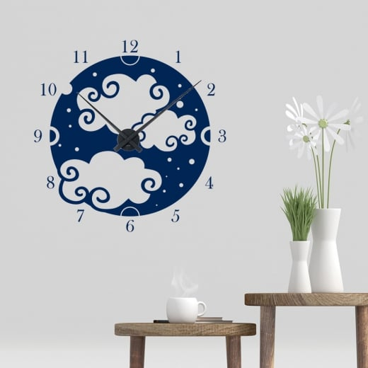 Clouds Clock Wall Sticker