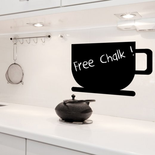 Coffee Cup Blackboard Wall Sticker