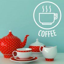 Coffee Cup Logo Wall Sticker