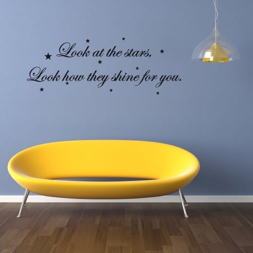Coldplay Look At The Stars Wall Sticker