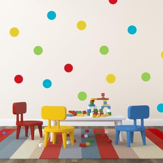 Colorful Rainbow Polka Dot Sticker Pack