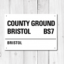 Country Ground Bristol, Bristol Metal Sign