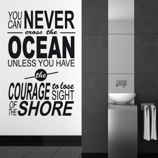 Courage Wall Sticker Quote