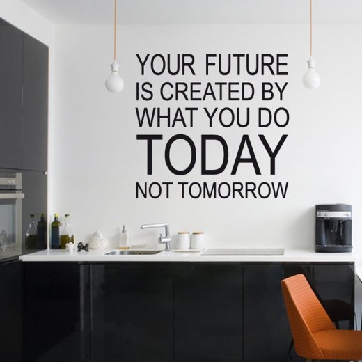 create your future wall sticker quote wall chimp uk