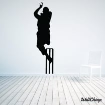 Cricketer Wall Sticker