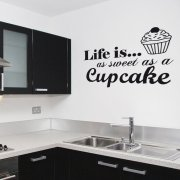 Cupcake Wall Sticker Quote