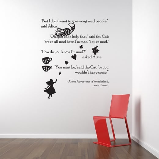 Nice Custom Alice In Wonderland Wall Sticker Part 2