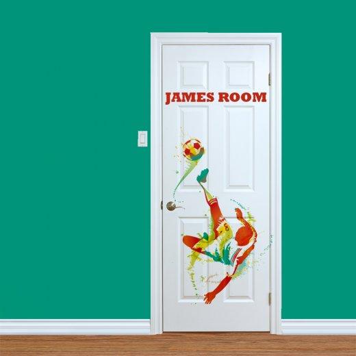 WallChimp Custom Footballer Printed Internal Door