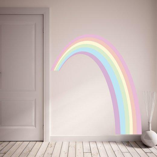 custom rainbow wall sticker from wall chimp uk