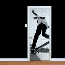 Custom Skateboarder Name Printed Door
