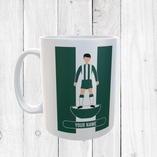 Dark Green & White Football Mug