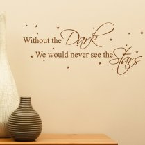 Dark & Stars Wall Sticker Quote