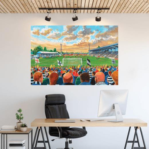 Darlington, Feethams Football Ground Wall Sticker