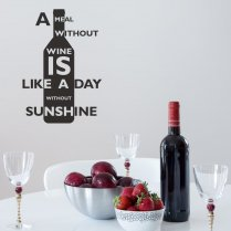 Day Without Wine Wall Sticker Quote
